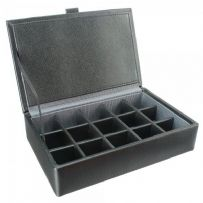 Dulwich Designs 70906 Black 15pc Cufflink Box With Grey Lining